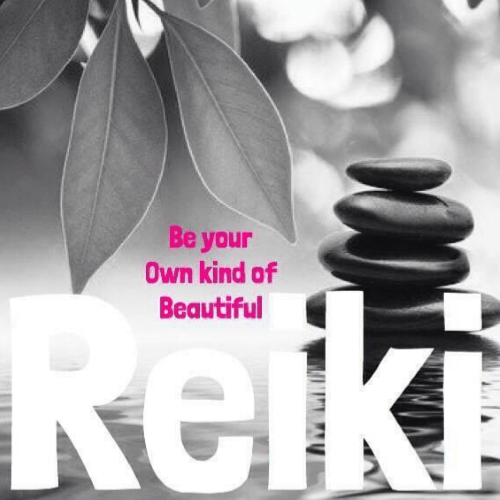Be your own kind of beautiful Reiki Academy logo